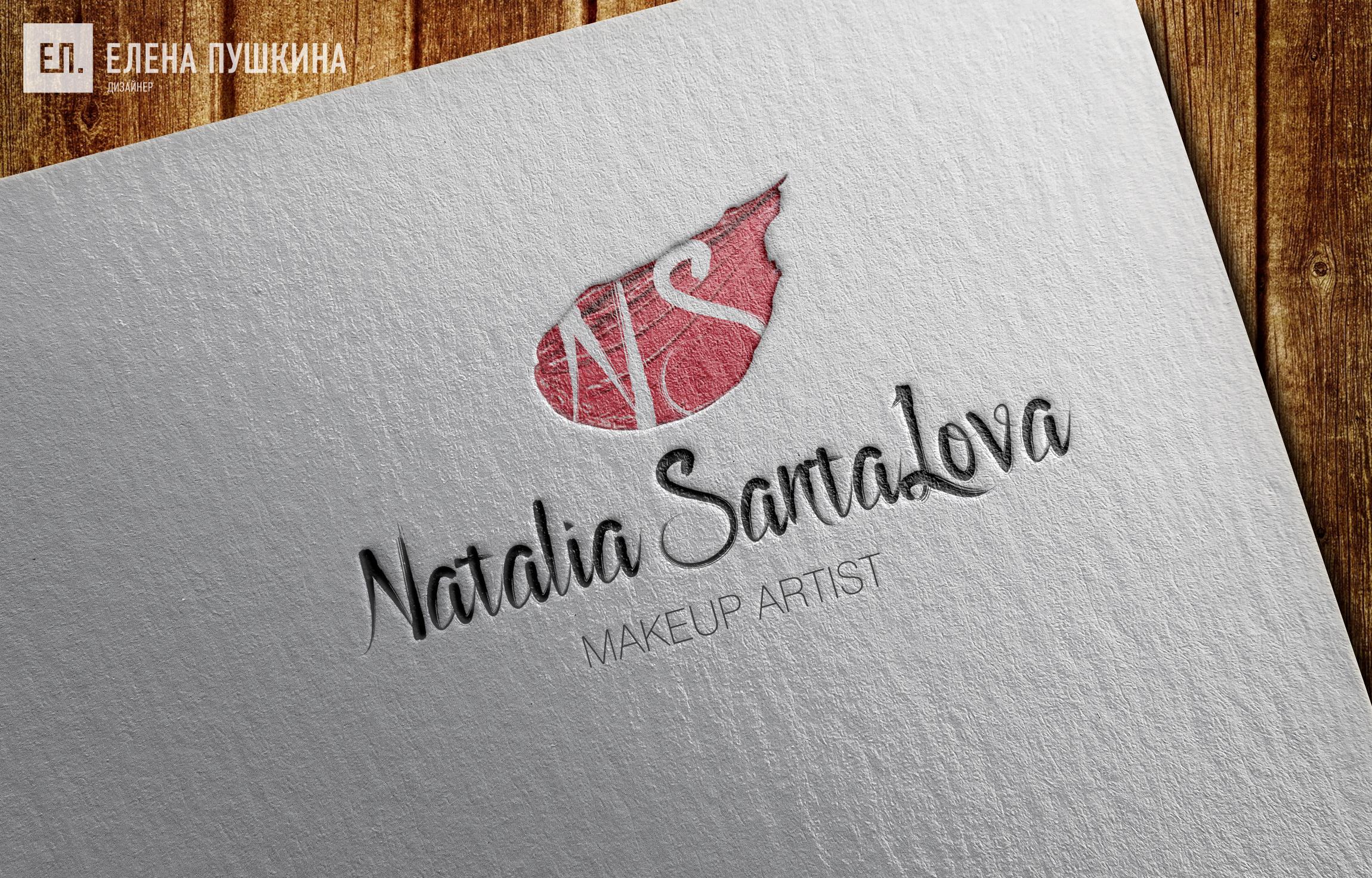 Разработка логотипа make-up artist Natalia Santalova Разработка логотипов Портфолио
