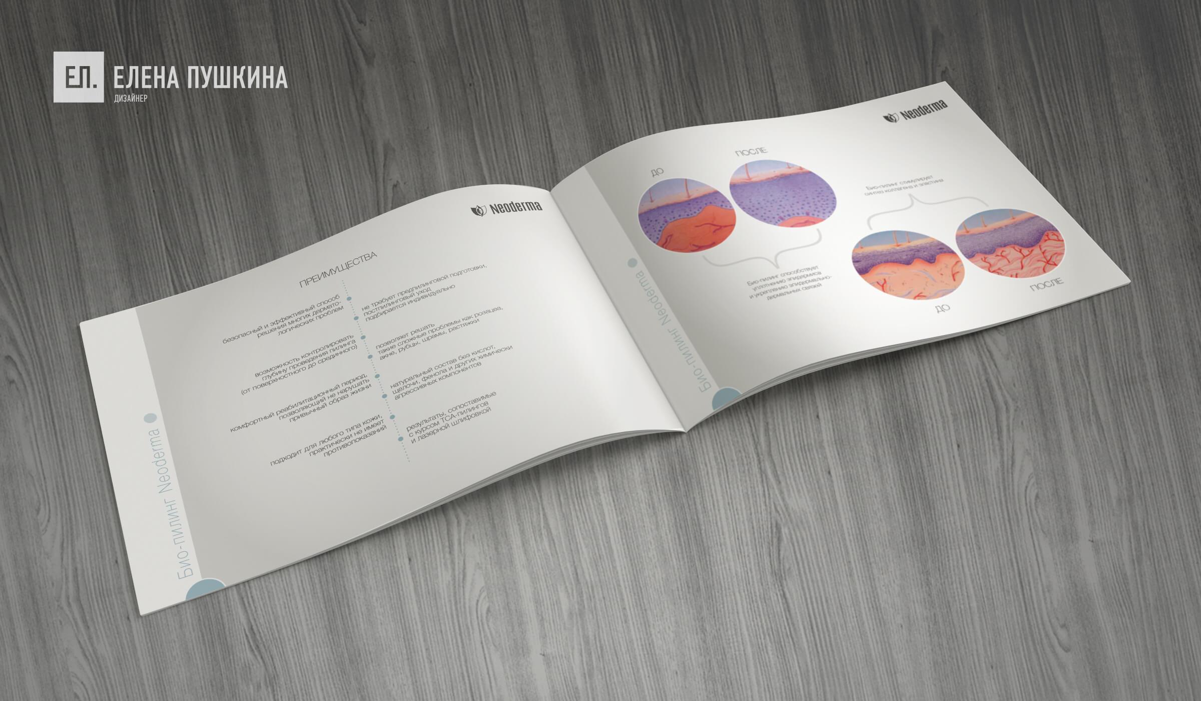 Каталог косметической продукции «NEODERMA»— дизайн с«нуля» обложки, макета ивёрстка каталога Дизайн каталогов Портфолио