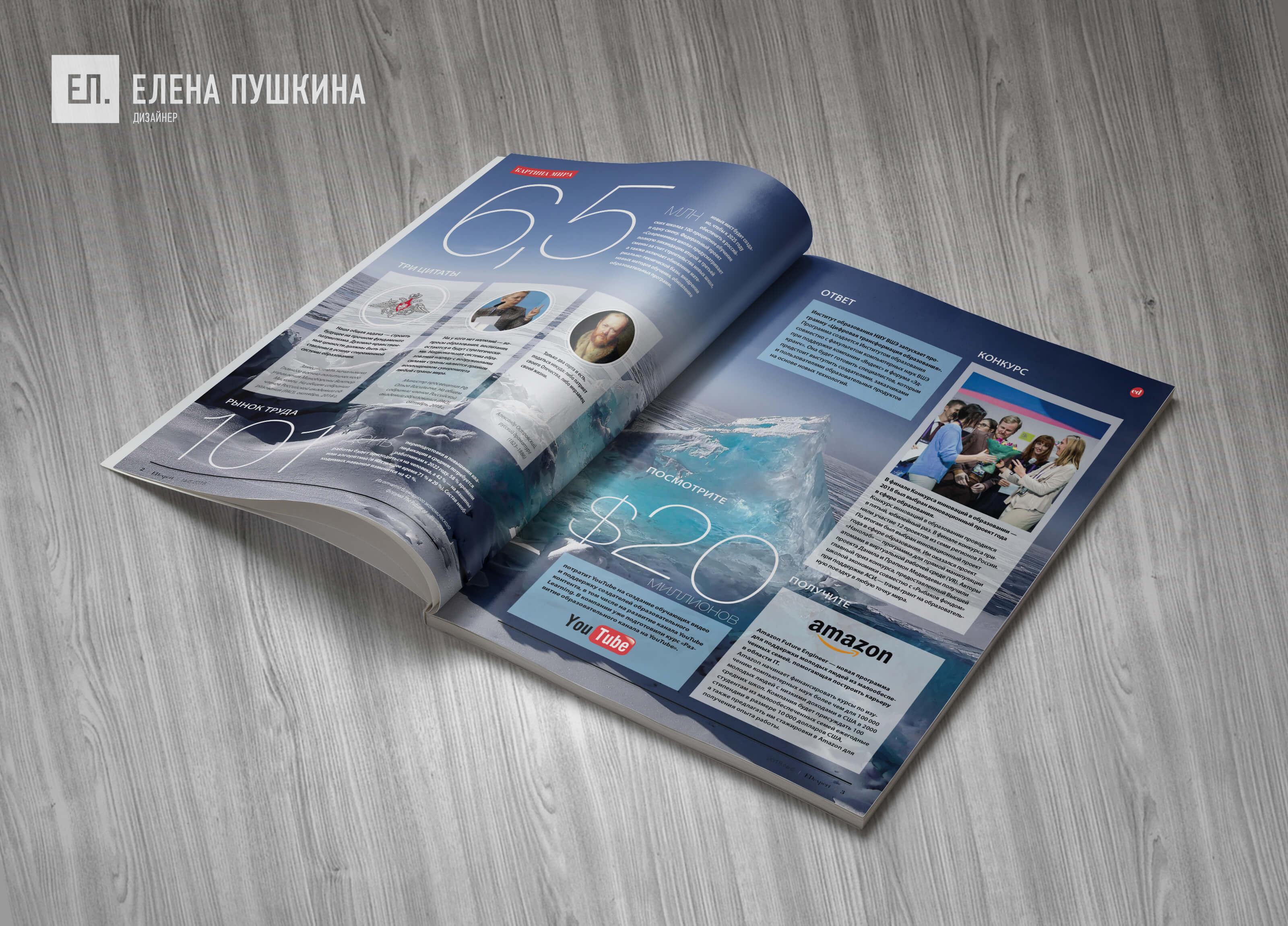 Журнал «EDexpert» №6 декабрь 2018 — разработка с «нуля» логотипа, обложки, макета и вёрстка журнала Разработка журналов Портфолио